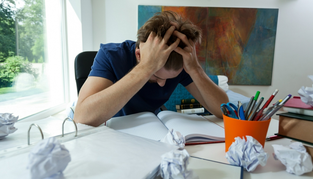 Exam Nerves hypnotherapy wolverhampton - stressed student
