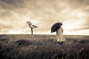 Depression Hypnotherapy Wolverhampton - Man in bad weather