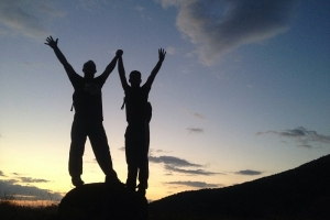 Self Confidence Hypnotherapy Wolverhampton - Confident Couple on Mountain Top