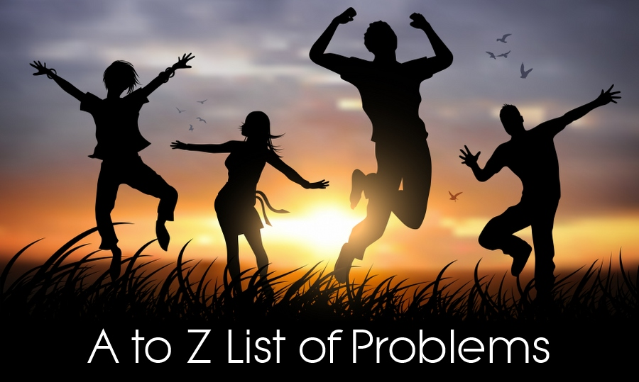 list of problems helped at wolverhampton hypnotherapy - a to z banner
