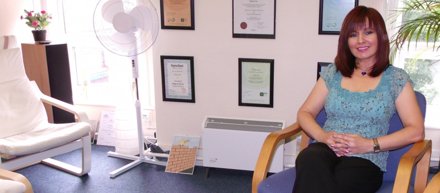 What Happens in the Hypnotherapy for Blushing sessions - Joan Lee sitting in the clinic